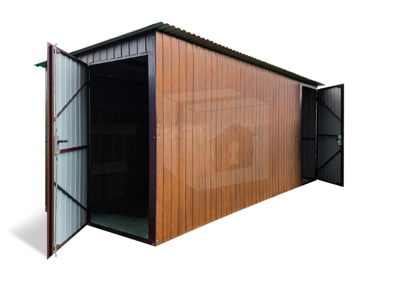 5x2m - hátrafelé, két ajtó, aranytölgy sötét