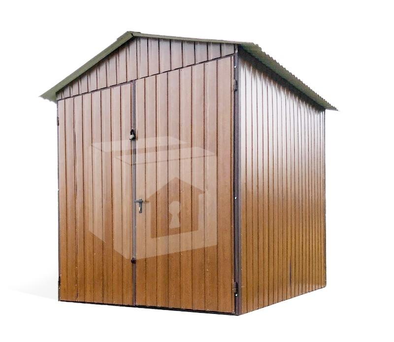 2x2m - nyeregtető, kétszárnyú kapu, kerti tároló, mobilgarázs