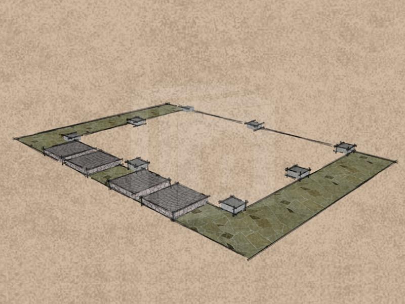 Mobilgarázs alap betontuskók