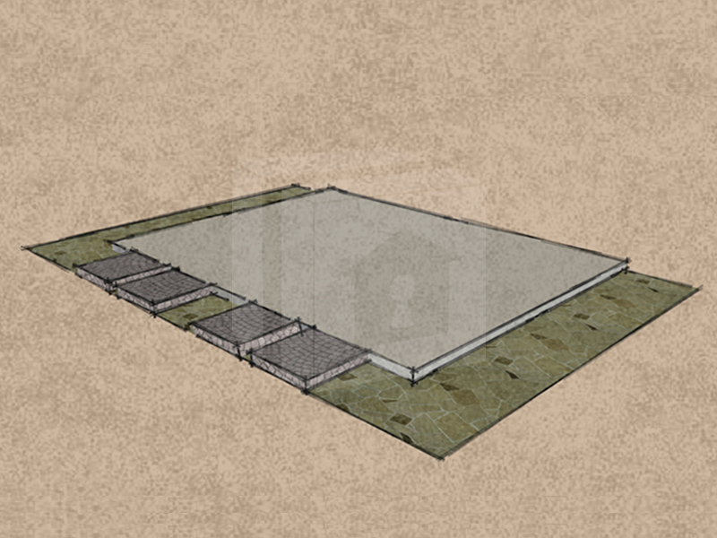 Mobilgarázs teljes betonalap