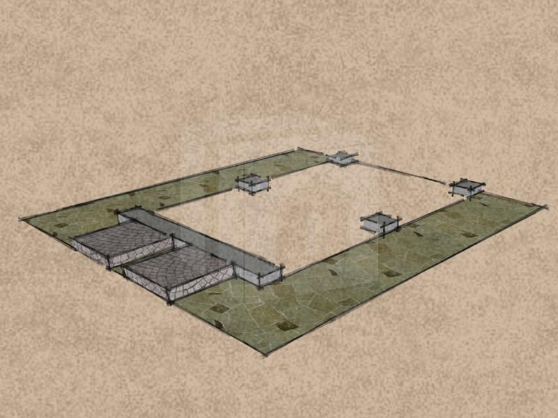 Mobilgarázs alap betontuskók és küszöbsáv