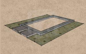 Mobilgarázs alap betongyűrű